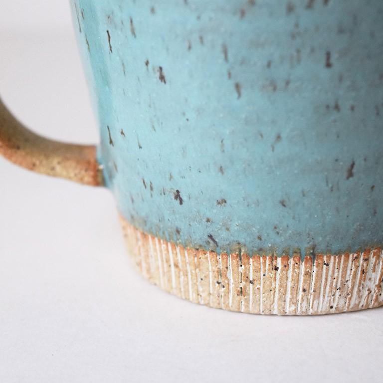 マグカップ デカマグ削り ターコイズ 陶器 大きいマグカップ 350cc 食器 おしゃれ 和カフェ おうち カフェ 美濃焼 日本製|kintouen|08