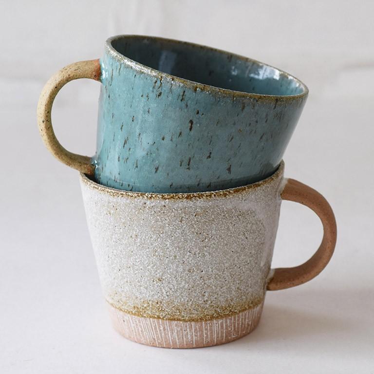 マグカップ デカマグ削り ターコイズ 陶器 大きいマグカップ 350cc 食器 おしゃれ 和カフェ おうち カフェ 美濃焼 日本製|kintouen|10