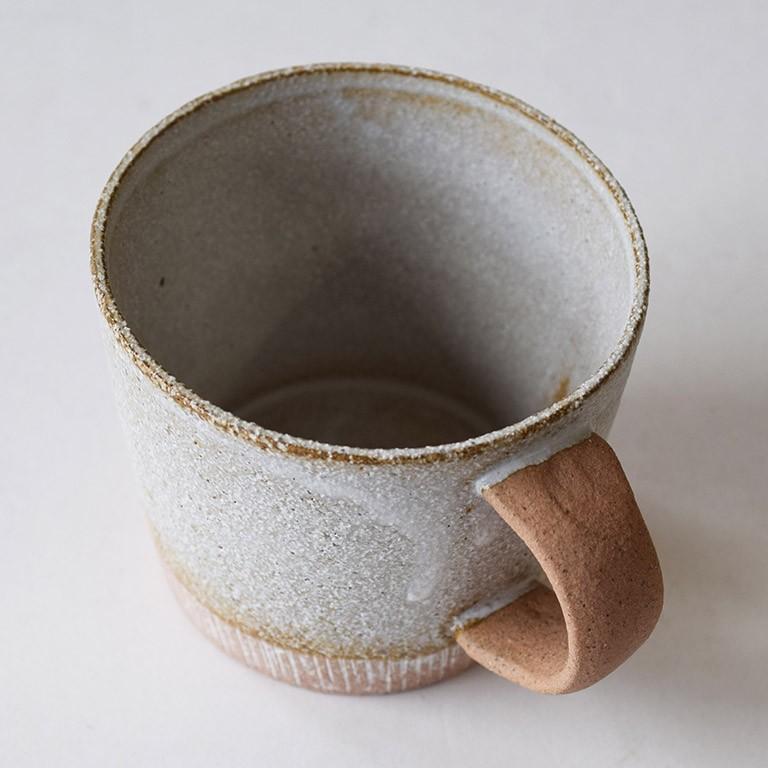 マグカップ デカマグ削り ソイミルク 陶器 大きいマグカップ 350cc 食器 おしゃれ 和カフェ おうち カフェ 美濃焼 日本製|kintouen|05