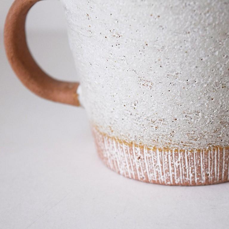 マグカップ デカマグ削り ソイミルク 陶器 大きいマグカップ 350cc 食器 おしゃれ 和カフェ おうち カフェ 美濃焼 日本製|kintouen|08