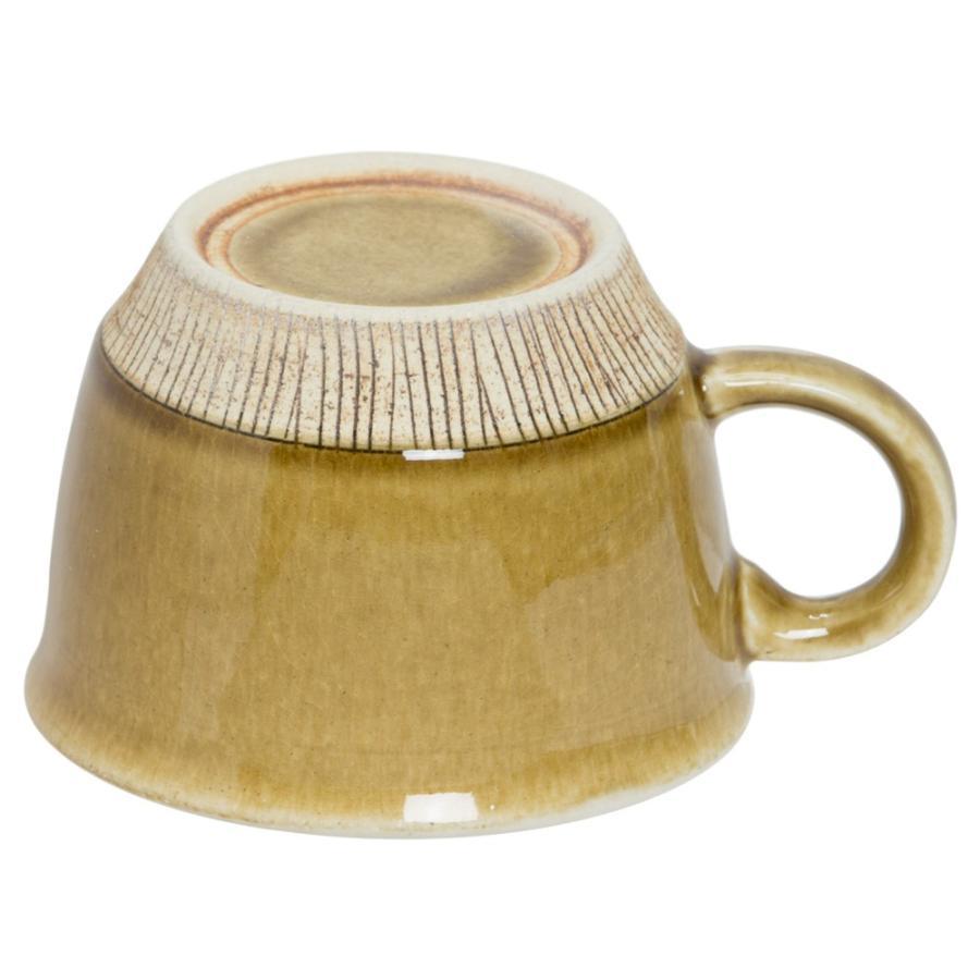 マグカップ 陶器 クシ目削ぎ ビックカップ マスタード 大きいマグ 380cc 食器 おしゃれ 美濃焼 日本製|kintouen|02