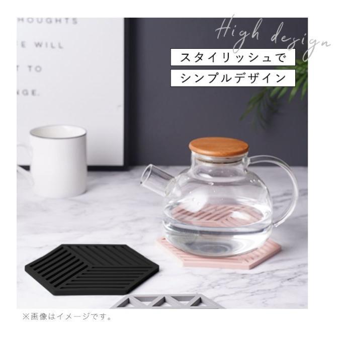 鍋敷き シリコン鍋敷き コースター オシャレ シンプル スタイリッシュ コップ敷き かわいい シリコン製 耐熱 キッチン用品 六角形 鍋つかみ|kira-bsmile|02