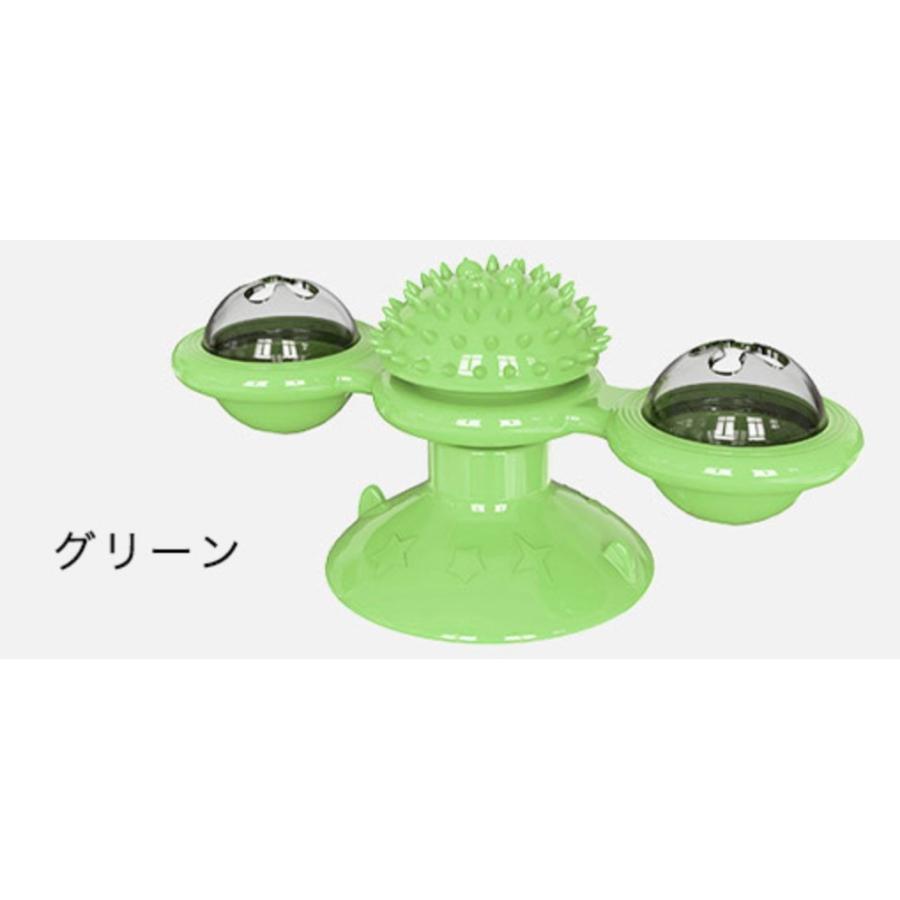 猫おもちゃ ターンテーブル 猫 ペット おもちゃ 歯磨き 噛む 運動不足解消 ストレス解消 玩具 回転 猫用 ねこ ねこ用 風車型おもちゃ|kira-bsmile|11