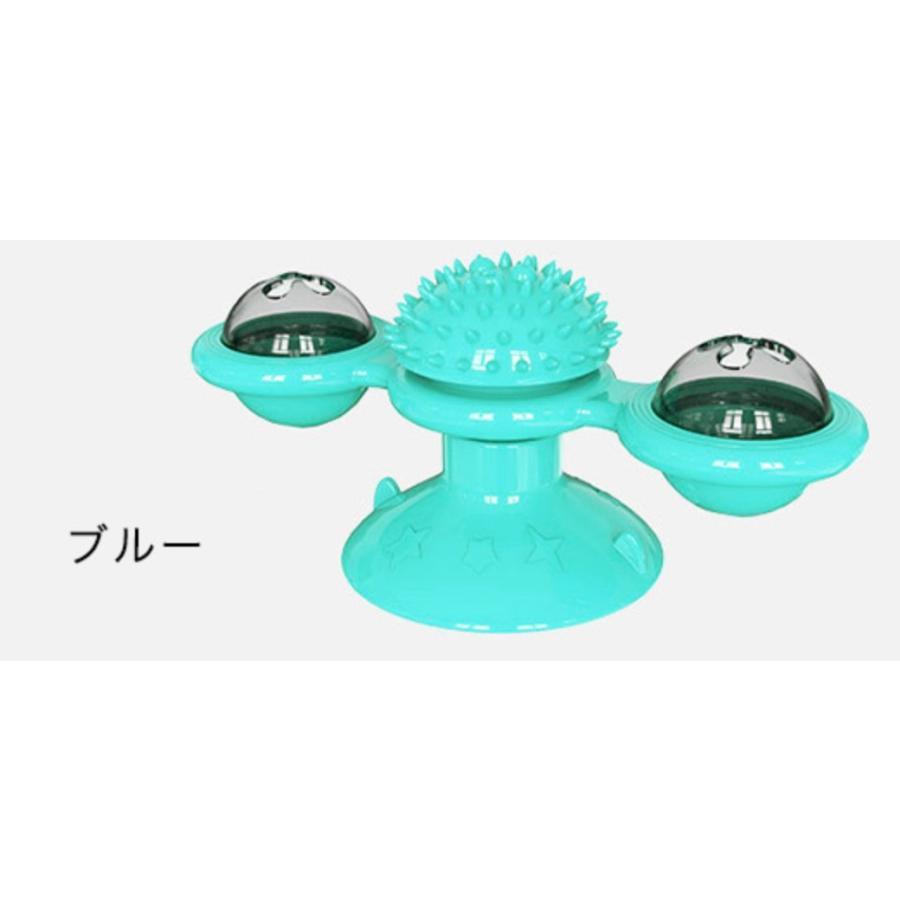 猫おもちゃ ターンテーブル 猫 ペット おもちゃ 歯磨き 噛む 運動不足解消 ストレス解消 玩具 回転 猫用 ねこ ねこ用 風車型おもちゃ|kira-bsmile|10