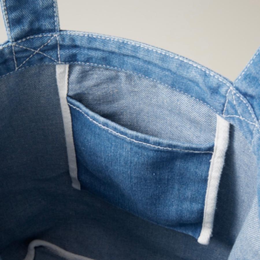 ソフトデニム トートバッグ M オーダーメイド 子供の絵 チームロゴ 手足型 ペット 写真 オリジナルデザイン|kira-bsmile|04