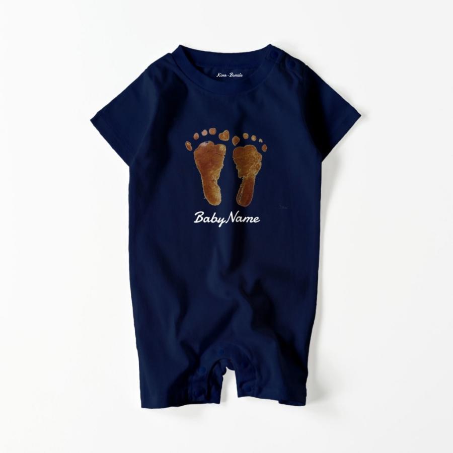ベビー ロンパース オーダーメイド 子供の絵 手足型 名入れ 1点から作成オリジナルデザイン|kira-bsmile|04