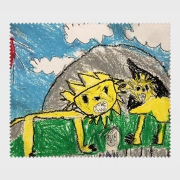 メガネ拭き オーダーメイド 子供の絵 チームロゴ 手足型 ペット 写真 オリジナルデザイン|kira-bsmile