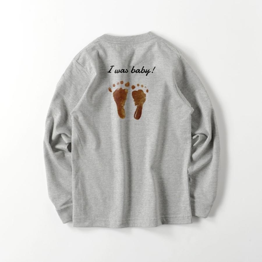 ロングTシャツ オーダーメイド キッズ リブ 子供の絵手足型 名入れ 1点から作成オリジナルデザイン|kira-bsmile|09