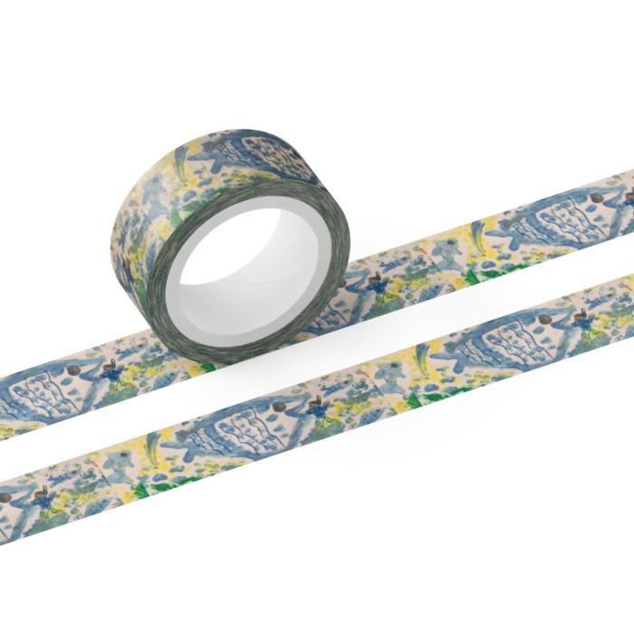 マスキングテープ 15mm オーダーメイド 子供の絵 チームロゴ 名入れ ペット 写真 オリジナルデザイン kira-bsmile