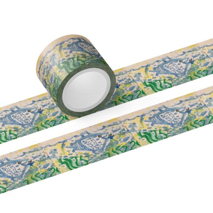 マスキングテープ 30mm オーダーメイド 子供の絵 チームロゴ 名入れ ペット 写真 オリジナルデザイン|kira-bsmile