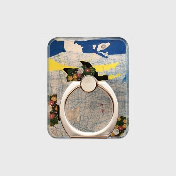 スマホリング スクエア オーダーメイド 子供の絵 チームロゴ ペット 写真 オリジナルデザイン|kira-bsmile