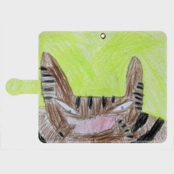 Android スマホケース オーダーメイド 手帳型 Lサイズ 子供の絵 チームロゴ ペット 写真 オリジナルデザイン|kira-bsmile|02