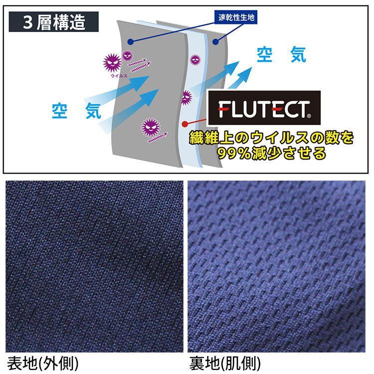 抗菌 抗ウイルス マスク フルテクト 洗える 繰り返し使える FLUTECT シキボウ|kirakukai|03