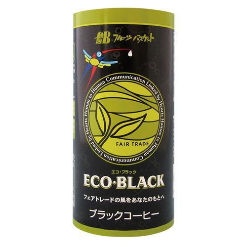 ECO・BLACK(エコブラック)195gフェアトレード有機コーヒー生豆100%使用、無糖ブラック