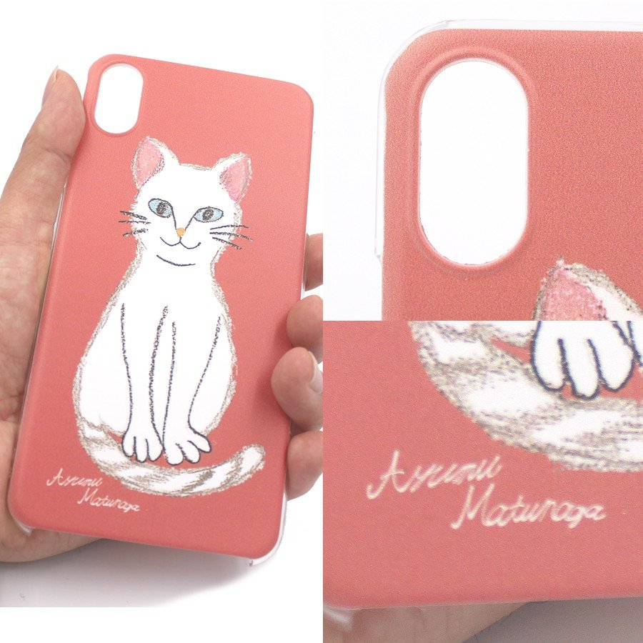 スマホケース 猫柄 ねこ 猫基金付 ハチワレ 北欧 雑貨 スコティッシュフォールド iPhone 11 pro max Xs XR X iP8 iPhone7 iPhone6s Plus iPhone SE SE2 Xperia|kirei-net|05