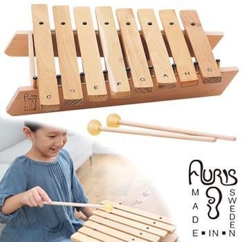 アウリス シロホンダイヤトニック8音 AUXRD008(楽器 おもちゃ こども 北欧 スウェーデン 木製 シロホン)