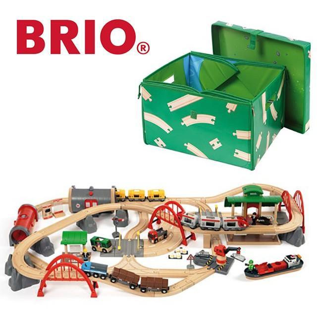 BRIO ブリオ レール&ロード デラックスセット 33052(乗り物 おもちゃ 男の子 道路 線路 橋 レールセット 鉄道 電車)