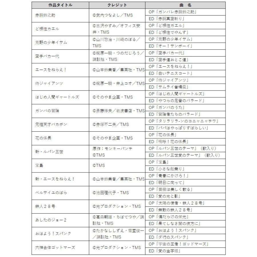 テレビアニメ主題歌ベストコレクション DVD-BOX(懐かし テレビ アニメ 主題 歌 主題歌 ベスト オムニバス 手塚治虫)|kireispot|05