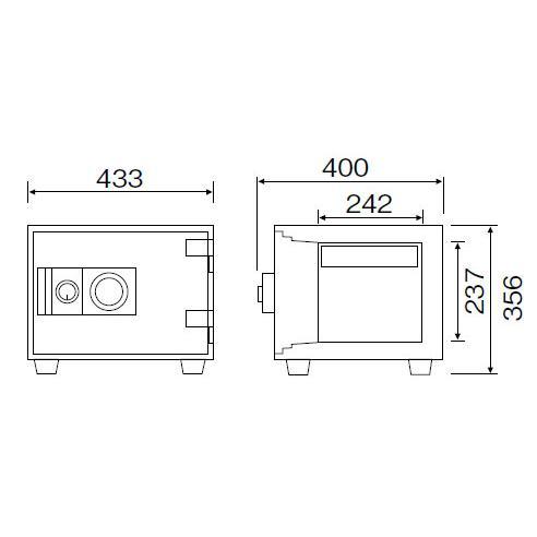 ダイヤセーフ 家庭用 耐火金庫 ダイヤルタイプ D34-1 重量42kg JIS1時間耐火|kireshop|02