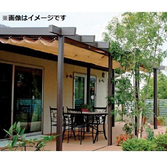 タカショー ポーチガーデン Jポーチ(壁寄せタイプ) 2間×8尺 *シェードは別売です クリアマット