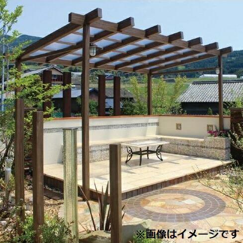 タカショー ポーチガーデン Jポーチ(独立タイプ) 1.5間×9尺 クリアマット