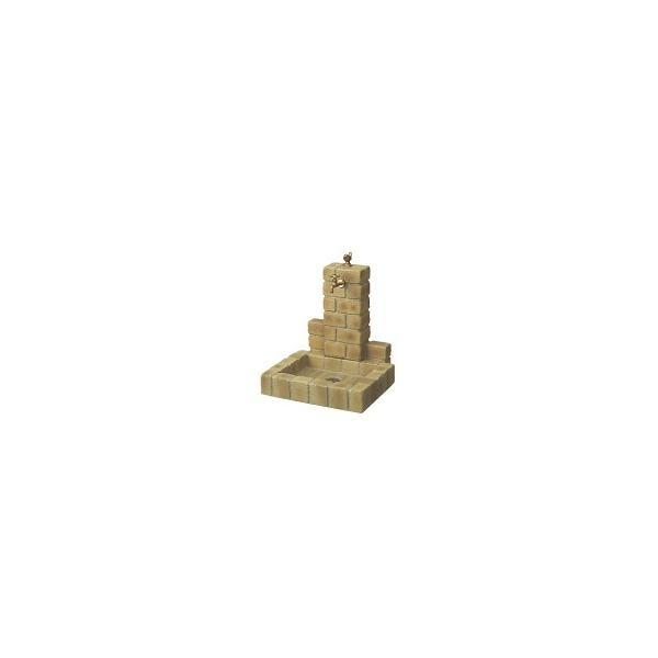 ニッコー 不凍水栓ユニット サナンド  立面:サークルタイプ パン:角型(PB) D-JX-PB-040 BY  『水栓柱・立水栓セット 蛇口 水受
