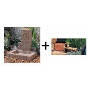 ニッコー 立水栓ユニット サークルタイプ 補助蛇口仕様(補助蛇口は別売です) パン:角型 『水栓柱・立水栓セット 水受け付き(蛇口は別売)ニッコーエク