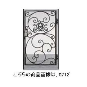 リクシル 新日軽 ディズニー門扉 角門柱式 プリンセスA型(かぼちゃの馬車) 0712 片開き ブラック