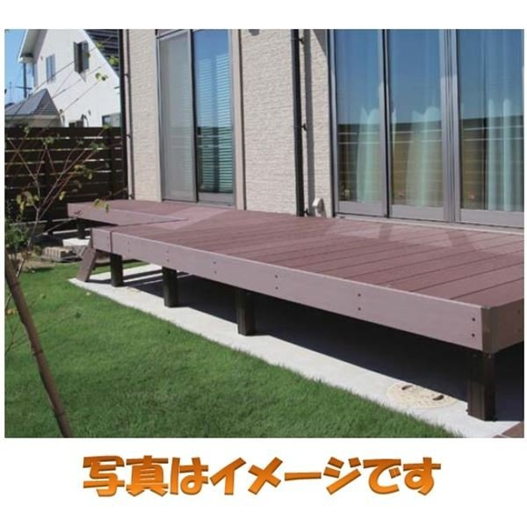 タカショー エバーエコウッド2 デッキセット (床板195mm幅仕様) 2間×3尺 『ウッドデッキ 人工木』 ホワイト
