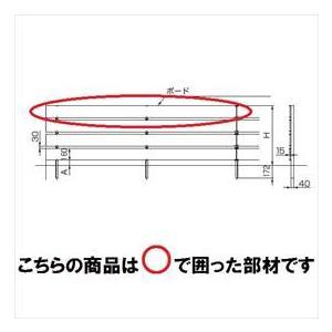 リクシル TOEX 樹ら楽ステージ ボードラインフェンス 面材 ボードセット 2400(2枚入り) 中間部用 2スパン 『リクシル』 『ウッドデッキ
