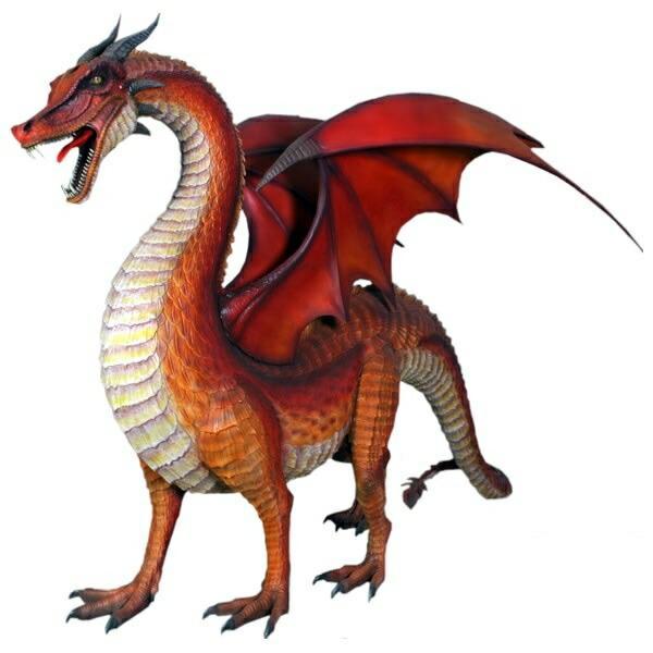FRP ドラゴン / Standing Dragon 『恐竜オブジェ 博物館オブジェ 店舗・イベント向け』