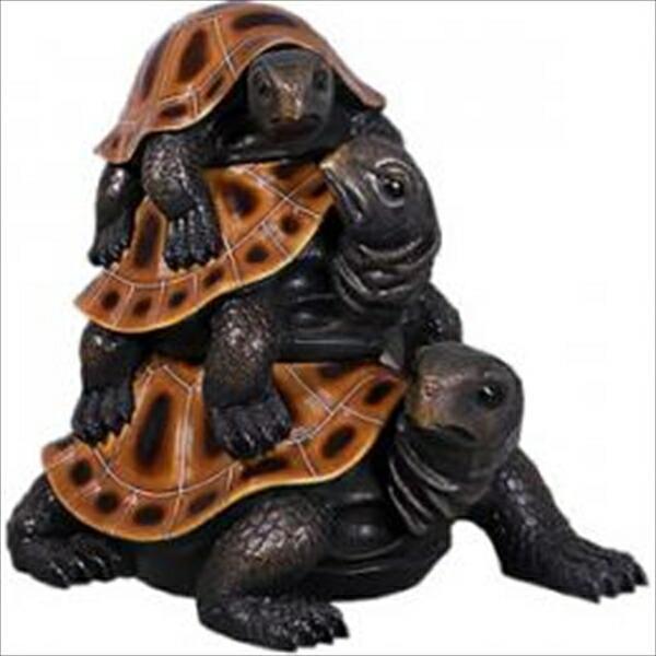 FRP 親ガメ・子ガメ・孫ガメ / Three's a Crowd Turtles 『水族館オブジェ アニマルオブジェ 店舗・ホテル向け』