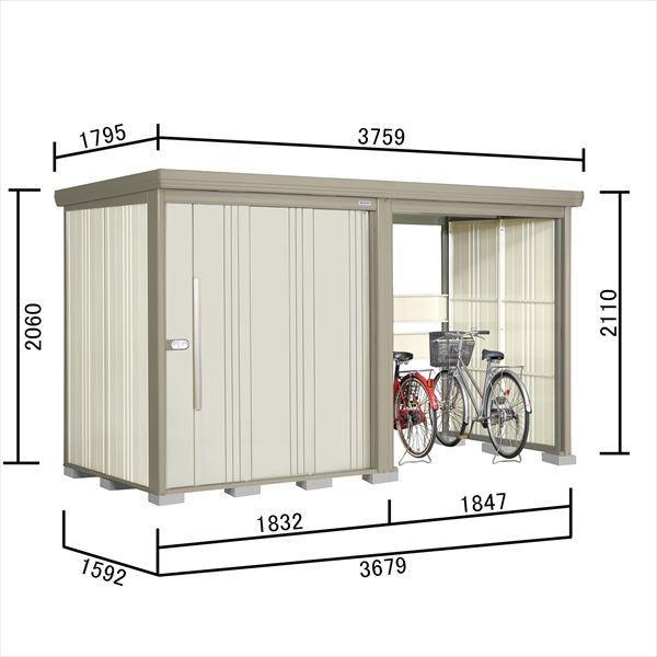 物置 屋外 おしゃれ タクボ物置 TP/ストックマンプラスアルファ TP-S37R15 多雪型 標準屋根 『追加金額で工事可能』 『収納庫 倉庫 屋外