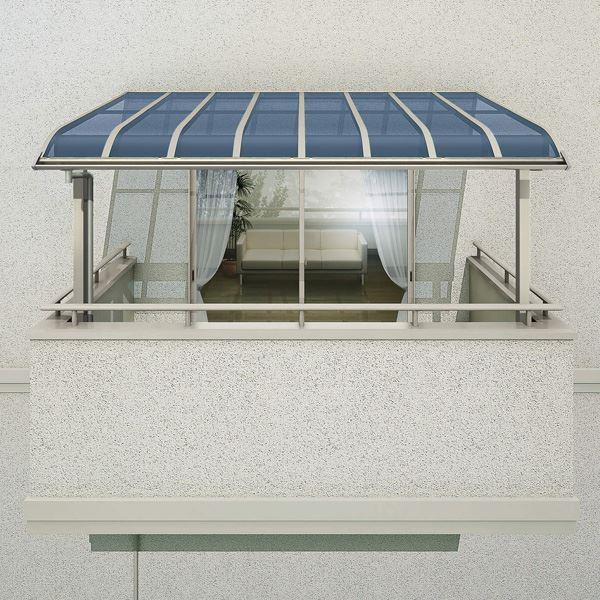 YKKAP 躯体式バルコニー屋根 ソラリア Bタイプ 柱奥行移動タイプ 2間×4尺 アール型 熱線遮断ポリカ屋根 メーターモジュール 1500N/m2