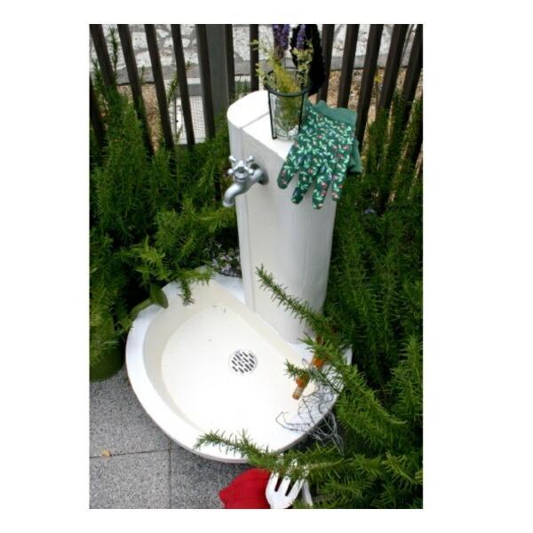 ニッコー 立水栓ユニット フォレット 補助蛇口仕様『補助蛇口は別売です・パンとセットです ニッコーエクステリア』 ホワイト