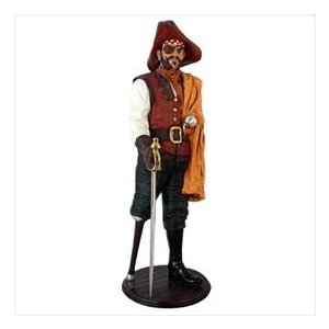 FRP 義足の海賊 / Captain Wooden Leg 『遊園地オブジェ 海賊オブジェ 店舗・イベント向け』