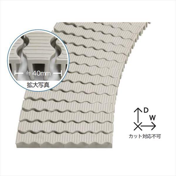 ミヅシマ工業 樹脂製グレーチング フリーハードルW ♯18  180mm×2m×27mm 432-0600 *受け枠別途 アイボリー