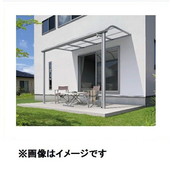 三協アルミ レボリューA 4.5間×12尺 600タイプ/メーターモジュール/1階用R型/標準収まり/3連結 熱線遮断ポリカ 『テラス屋根』