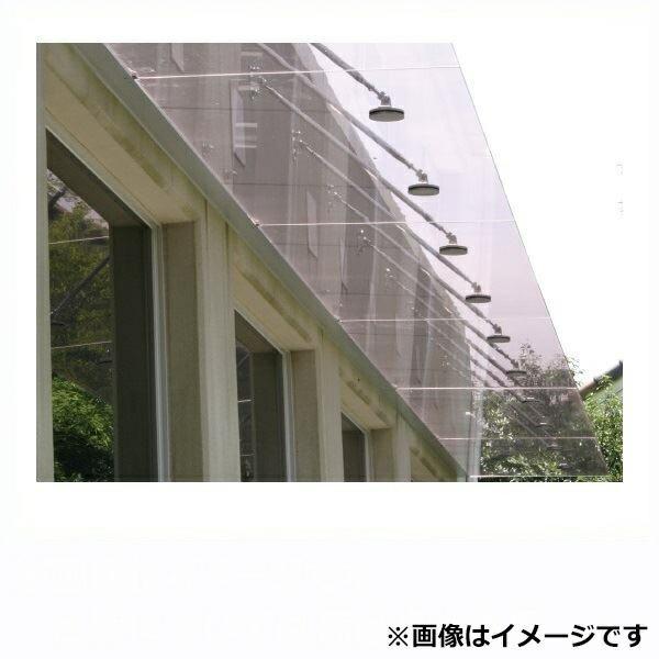 アルフィン庇 ガラスひさし 透明/乳白 サポートポール仕様 D800×L1000 AF810