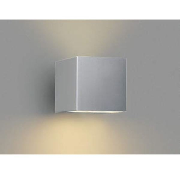 コイズミ ポーチ灯 下方照射 AU42371L 『ブラケットライト エクステリア照明 『ブラケットライト エクステリア照明 『ブラケットライト エクステリア照明 ライト』 シルバーメタリック d6e
