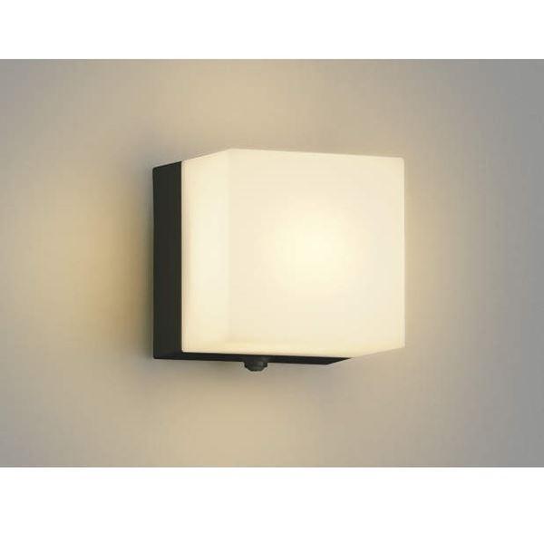 コイズミ ポーチ灯 タイマー付ON/OFFタイプ AU40265L 人感センサ付 『ブラケットライト エクステリア照明 ライト』 黒色