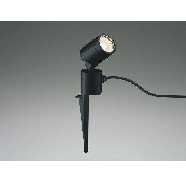 コイズミ スパイクスポットライト  AU45257L 拡散 『スポットライト エクステリア照明 ライト』 黒色