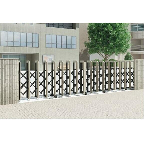 四国化成 ALX2 先端ノンレール スチールレール ALXN12-1460SSC 片開き 『カーゲート 伸縮門扉』