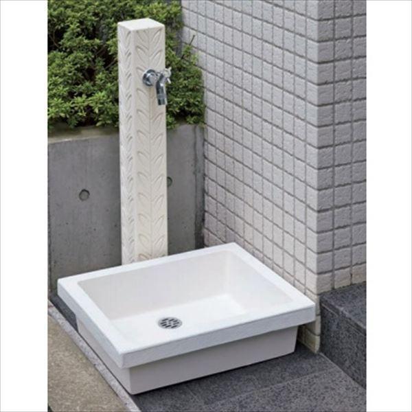 オンリーワン リーフ 水栓柱 TC3-SCLWH +パン+蛇口セット   ホワイト