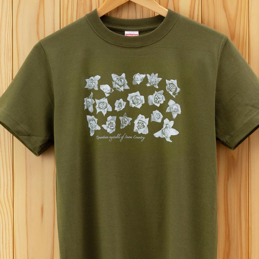 ふきのとうTシャツ カーキ|kiru-sansai