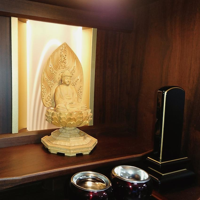 仏壇 国産 モダン仏壇 七歌 16号(ショールームに展示中です)|kishineen|06