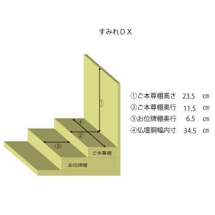 仏壇 国産モダン仏壇 すみれDX カリン 18号 kishineen 02