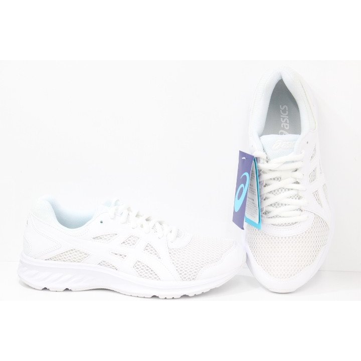 メンズ アシックス 白靴 通学靴 asics JOLT 2 1011A206 100 WHITE/WHITE kishiyama-hakimono 03
