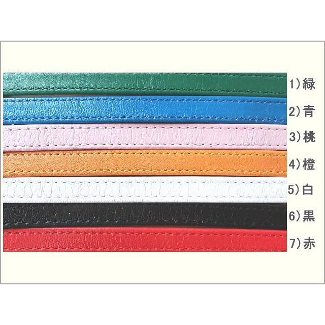 イニシャルチャーム付きネックストラップ 新7色 日本製柔らかい上質の革|kitaebisu|09