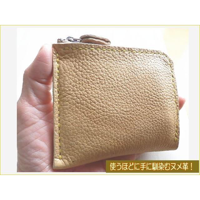 牛革コンパクト財布2色 ハーフウォレット L字ラウンド メンズ・レディース兼用|kitaebisu|02